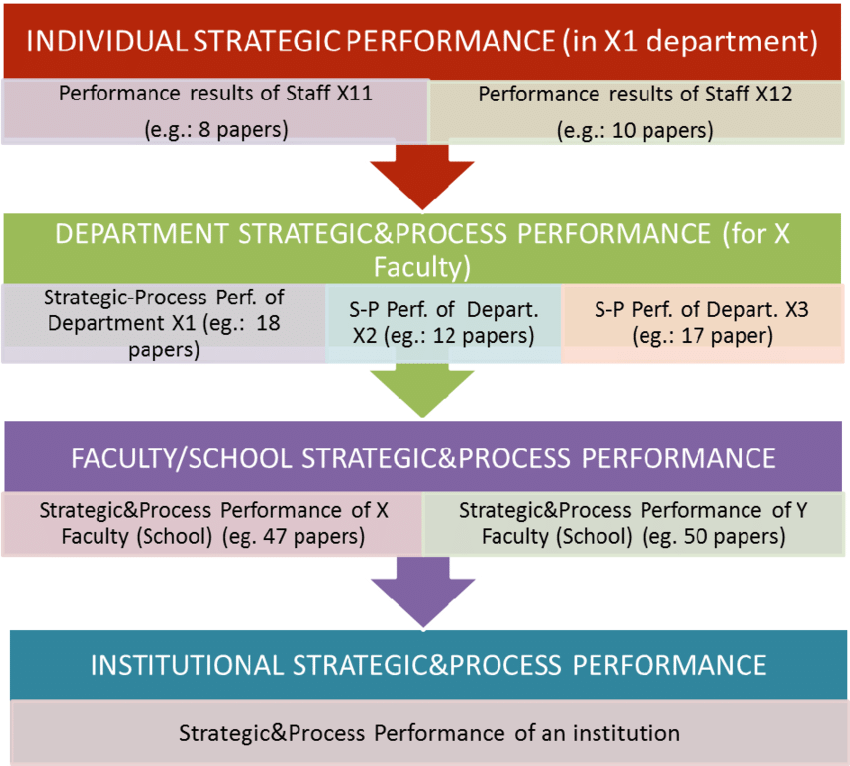 Performance evaluation process of higher education institutions